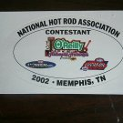 2002 NHRA Contestant Decal Memphis