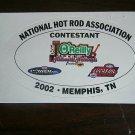 2002 NHRA Contestant Decal Memphis