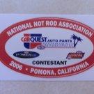 2006 NHRA Contestant Decal Pomona Winternationals