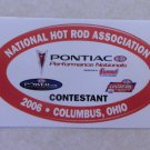 2006 NHRA Contestant Decal Columbus