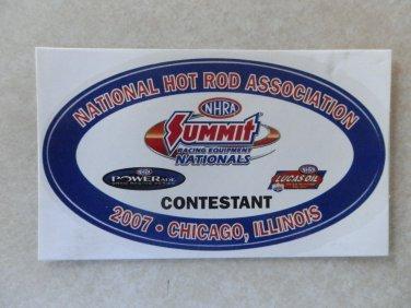 2007 NHRA Contestant Decal Chicago