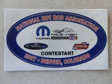 2007 NHRA Contestant Decal Denver
