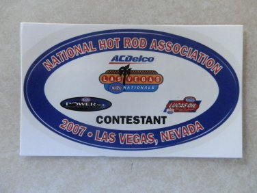 2007 NHRA Contestant Decal Las Vegas Fall Race