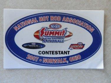 2007 NHRA Contestant Decal Norwalk