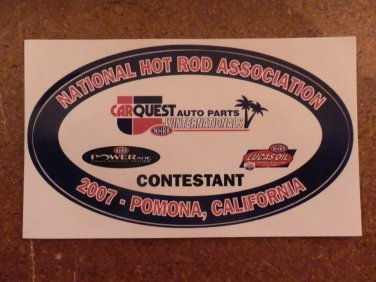 2007 NHRA Contestant Decal Pomona Winternationals