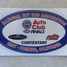 2007 NHRA Contestant Decal Pomona Finals