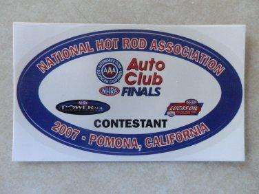 2007 NHRA Contestant Decal Pomona Finals