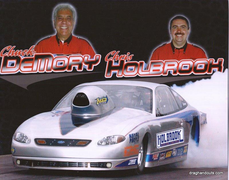 2004 NHRA PS Handout Chuck DeMory