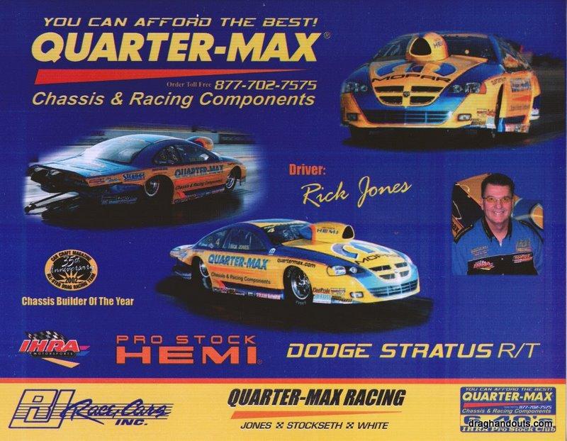 2004 NHRA PS Handout Rick Jones