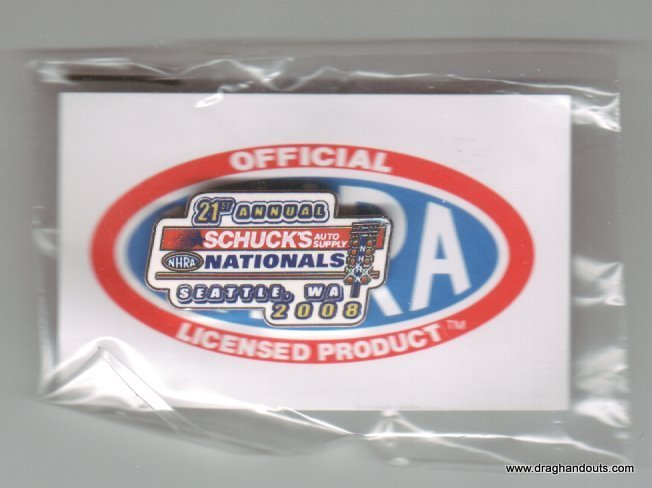 2008 NHRA Event Pin Seattle