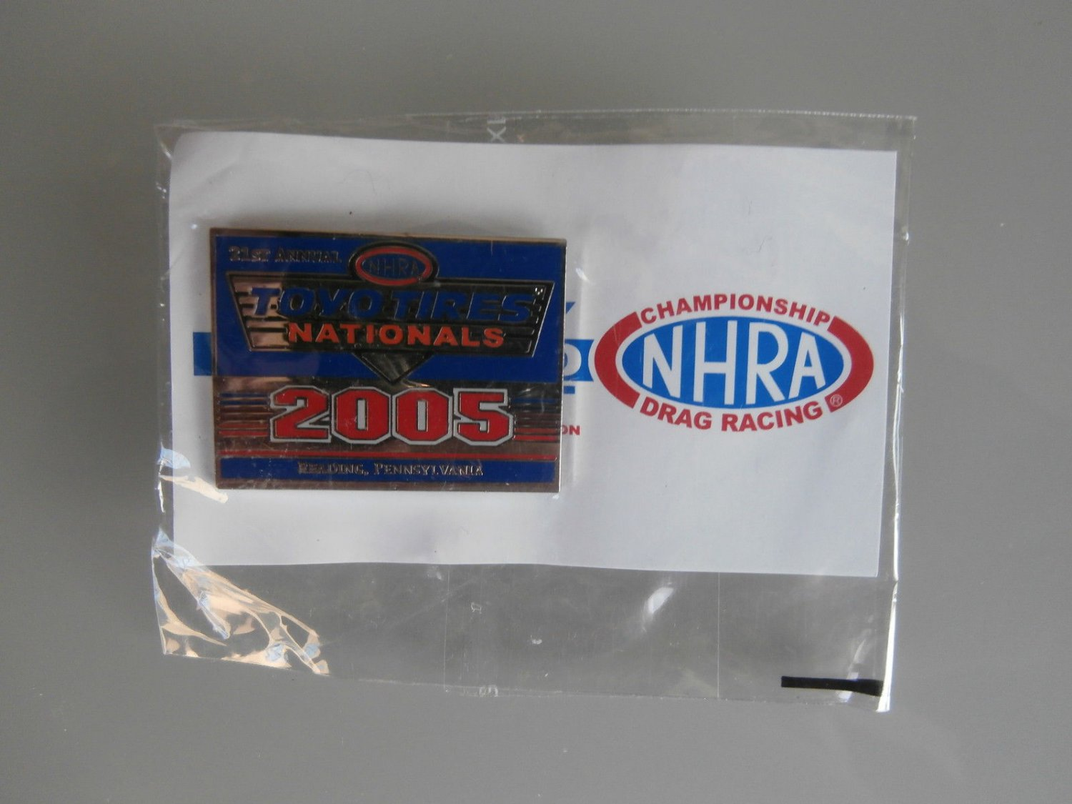 2005 NHRA Event Pin Reading