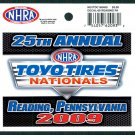 2009 NHRA Event Decal Reading