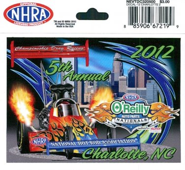 2012 NHRA Event Decal Charlotte Fall Race