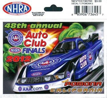 2012 NHRA Event Decal Pomona Finals