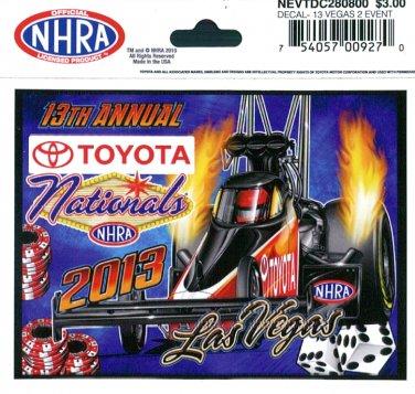 2013 NHRA Event Decal Las Vegas