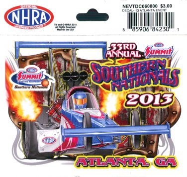 2013 NHRA Event Decal Atlanta
