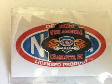 2016 NHRA Event Pin Charlotte Fall Race