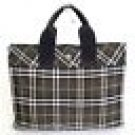 Authentic BURBERRY BLUE LABEL Gray Check Tote Bag