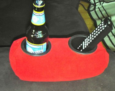 Drink Holder- Weighted Cup Holder- The Beanie Baby for Your Beer! (Red)