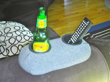 Drink Holder- Weighted Cup Holder- The Beanie Baby for Your Beer! (Grey)