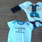 2 piece baby boy's bodysuit 3 mos
