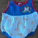 Baseball baby boy's bodysuit 0-6 mos