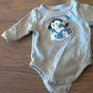 Garanimals baby boy's gray bodysuit 0-3 mos