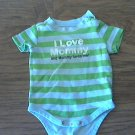 Circo baby boy's green and blue striped bodysuit 3 mos