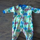 Faded Glory baby boy's Turcks and tractors print sleepwear/outfit 0-3 mos