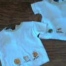 Tad Little 2 piece baby boy's white short sleeve shirt 0-6 mos