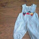 The Bailey Boys baby boy's blue plaid overall 12 mos