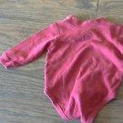 OshKosh baby boy's red long sleeve bodysuit 6-9 mos