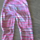 4T toddler girl's red striped pant