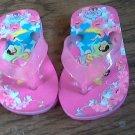 Disney toddler girl's hot pink princess flip flops size 5-6