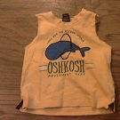 OshKosh baby boy's yellow sleeveless shirt 3-6 mos