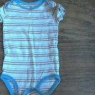 Carter's baby boy red,blue,black striped short sleeve bodysuit Medium
