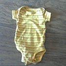 Carter's baby boy's yellow,black,green striped bodysuit 3 mos