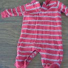 Polo  baby boy's red and white striped long sleeve bodysuit 12 mos