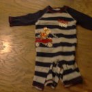 Disney baby boy's navy and grey striped long sleeve jumpsuit/outfit  6-9 mos