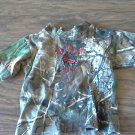 Lil Joey Kritters baby boy's green camo short sleeve shirt Medium