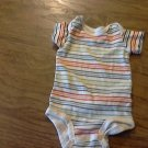 Carter's baby boy's blue,green,red,white striped oneise 0-3 mos