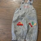 Baby boy's blue and white striped overall 24 mos
