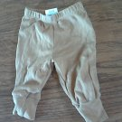 Faded Glory  baby boy's brown sand pant 0-3 mos