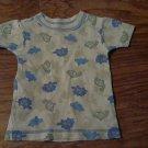 Carter's baby boy's green dinosaurs short sleeve shirt 18 mos