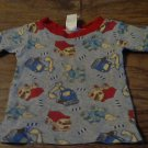 Fisher Price baby boy's gray tractors prints shirt 12 mos