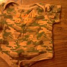 Faded Glory baby boy's green camo oneise 6-9 mos