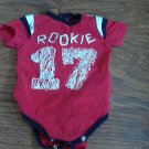 Okie Dokie baby boy's red short sleeve oneise 6-9 mos