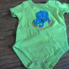 Garanimals baby boy's green short sleeve oneise 6-9 mos