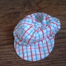 Baby boy's blue,red,white pliads hat 3-6 mos