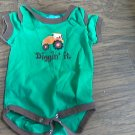 6 mos baby boy's green short sleeve oneise